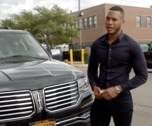 Trai Byers with Lincoln Navigator SUV in Empire