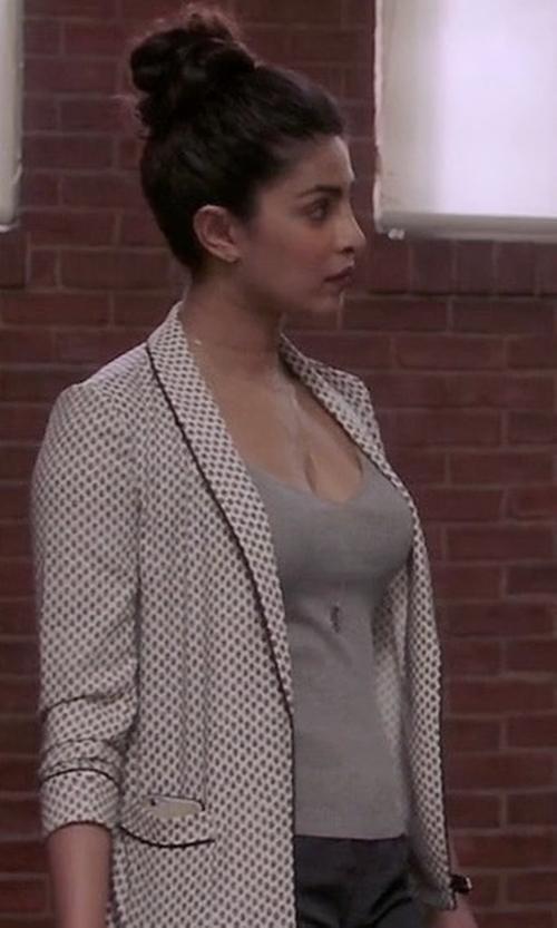 Priyanka Chopra with Hanro Ribbed Cotton & Cashmere Tank Top in Quantico