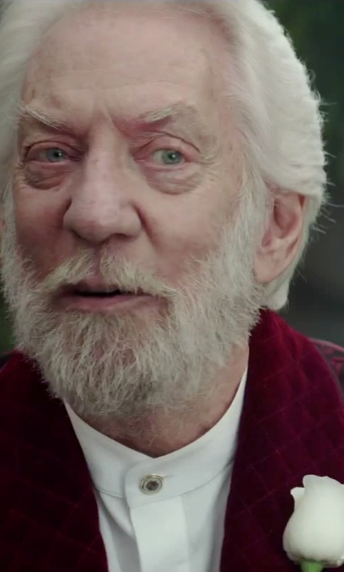 Donald Sutherland with Marc Jacobs Brocade Blazer in The Hunger Games: Mockingjay - Part 2