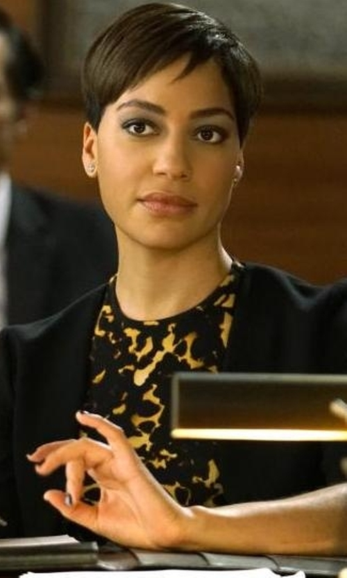 Cush Jumbo with House Of Harlow 1960 X Revolve Fifi Blazer in The Good Fight