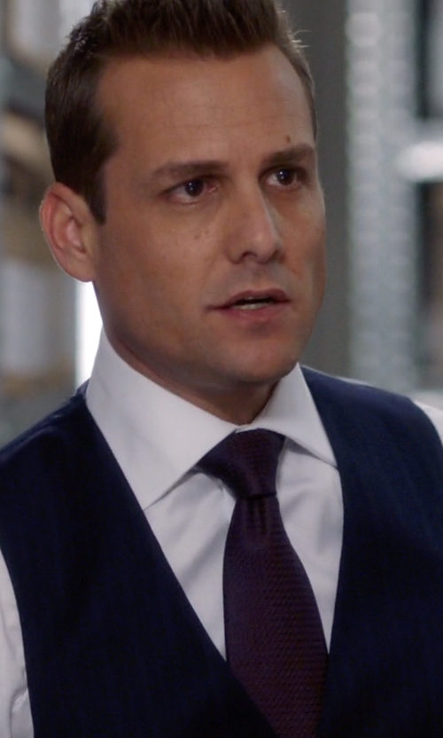 Gabriel Macht with Peter Millar Yorkshire Cotton-Blend Waistcoat in Suits