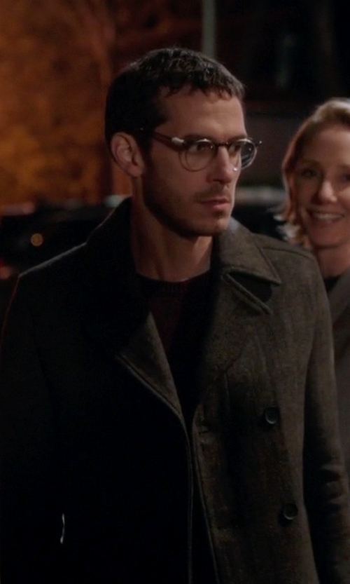 Tate Ellington with Vineyard Vines Wool Pea Coat in Quantico