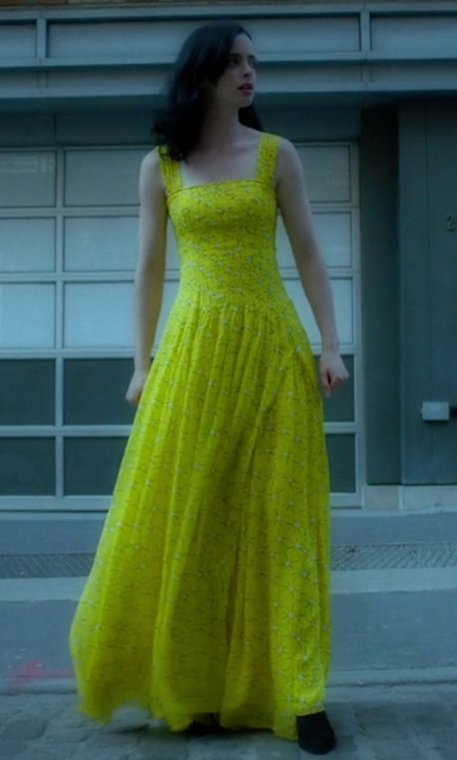 Krysten Ritter with Diane Von Furstenberg Lillie Maxi Dress in Jessica Jones