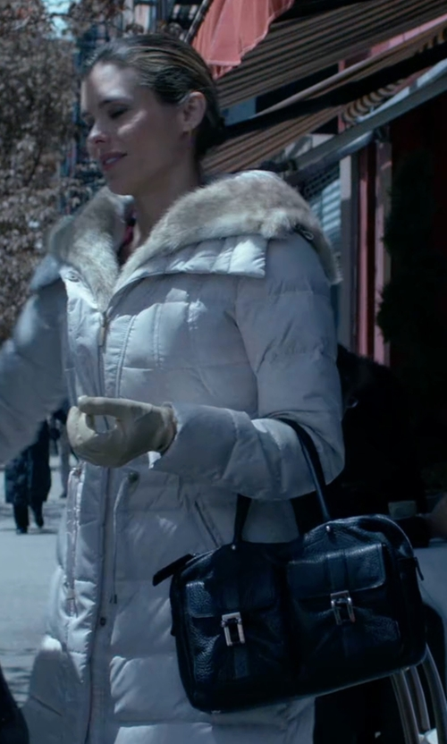 Susie Abromeit with Liebeskind Berlin Frida B Front Pocket Satchel Top Handle Bag in Jessica Jones