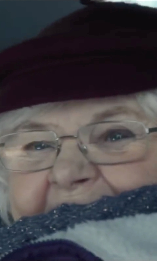 June Squibb with Hat Attack Luxe Leather-Trim Cap in Love the Coopers