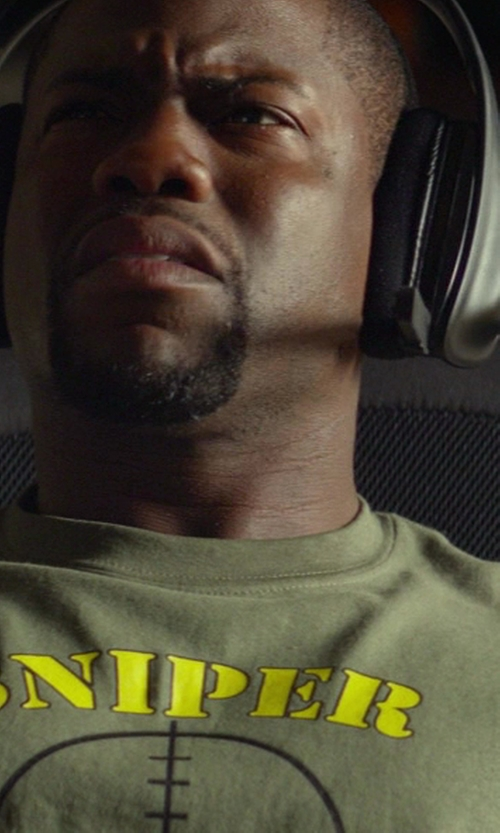 Kevin Hart with CafePress Sniper T-Shirt in Ride Along