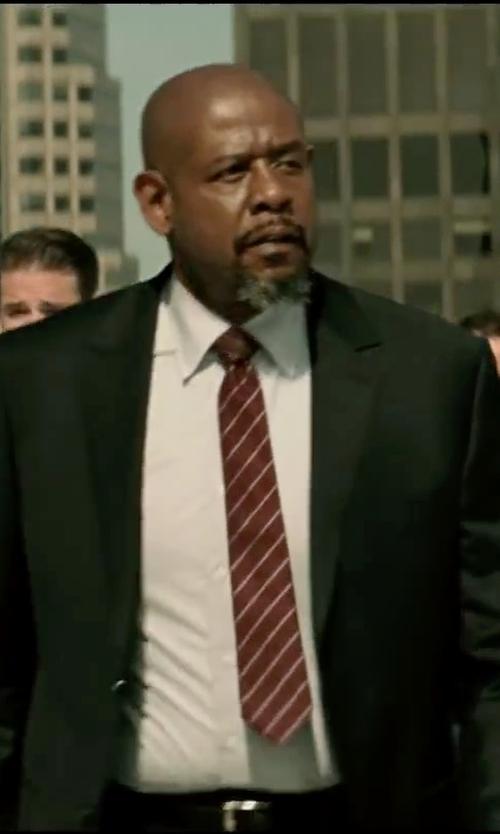 Forest Whitaker with Uman Dash-Stripe Grenadine Neck Tie in Taken 3