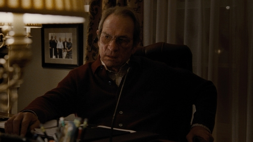 Tommy Lee Jones with Polo Ralph Lauren Stretch Long-Sleeve Mesh Polo Shirt in Jason Bourne