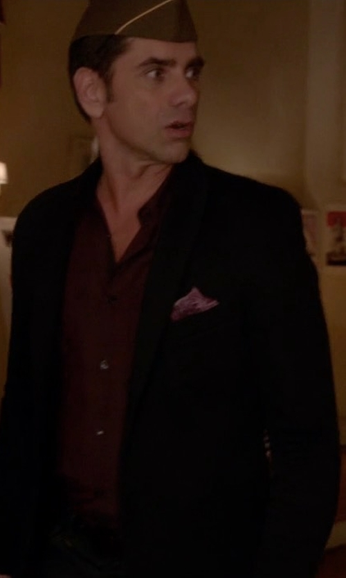 John Stamos with Theory Wellar New Tailor Blazer in Scream Queens