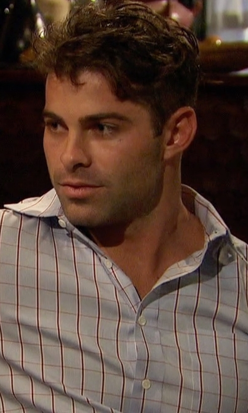 Alex with Luciano Barbera Plaid Sport Shirt in The Bachelorette