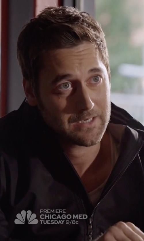 Ryan Eggold with Tommy Hilfiger Stand Collar Zip Front Jacket in The Blacklist