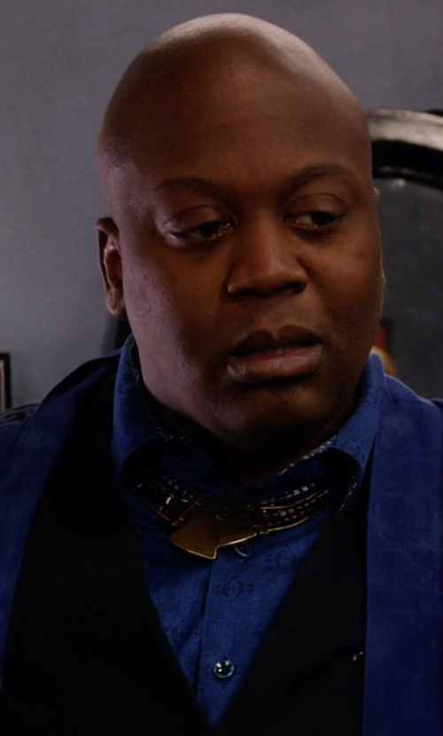 Tituss Burgess with Robert Graham Space Jacquard Sport Shirt in Unbreakable Kimmy Schmidt