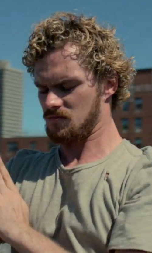 Finn Jones with Ksubi Seeing Lines Tee in Marvel's Iron Fist
