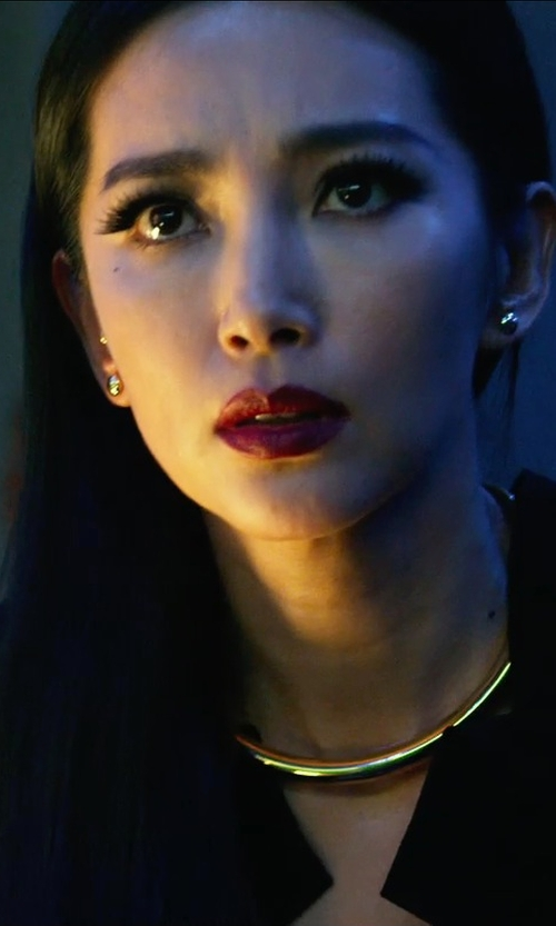 Bingbing Li with JENNIFER FISHER X Stop It Right Now Choker in Transformers: Age of Extinction