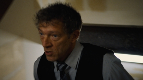 Vincent Cassel with Versace Button-Front Solid Dress Shirt in Jason Bourne
