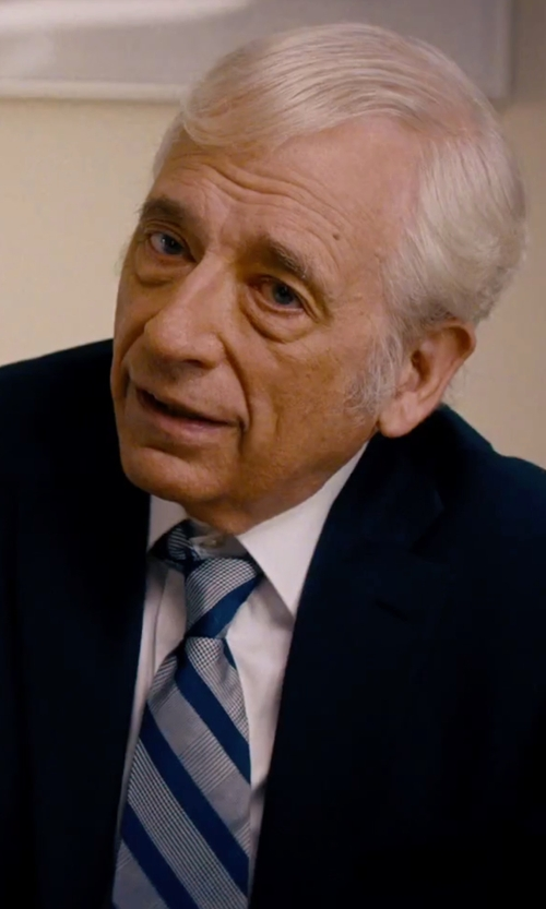 Austin Pendleton with Brooks Brothers University of Virginia Guard Stripe Tie in She's Funny That Way