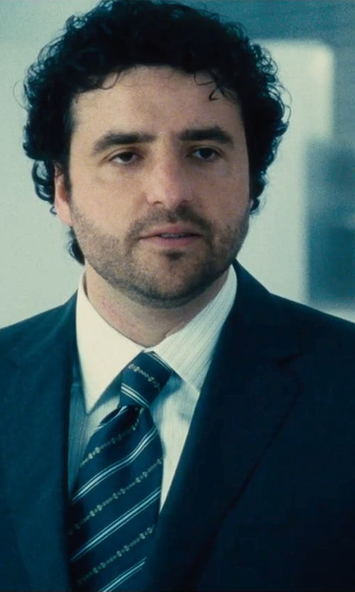 David Krumholtz with Jil Sander Two-Button Micro-Check Clive Suit in The Judge