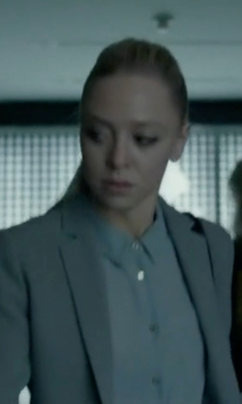 Portia Doubleday with Boss Blurred Focus Cuff Link Blazer in Mr. Robot