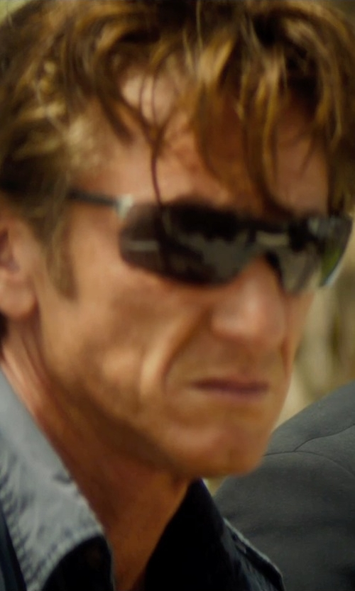 Sean Penn with Tag Heuer Squadra 5502 Sport Sunglasses in The Gunman
