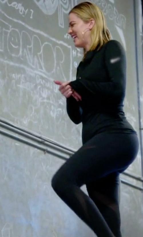Khloe Kardashian with Nike Legendary Fabric Twist Veneer Leggings in Keeping Up With The Kardashians