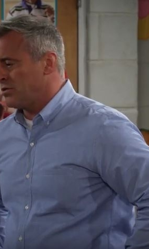 Matt LeBlanc with Barneys New York Solid Oxford Cloth Shirt in Man With A Plan
