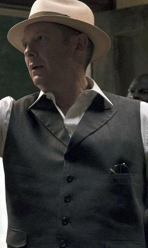 James Spader with Tonello Suit Vest in The Blacklist