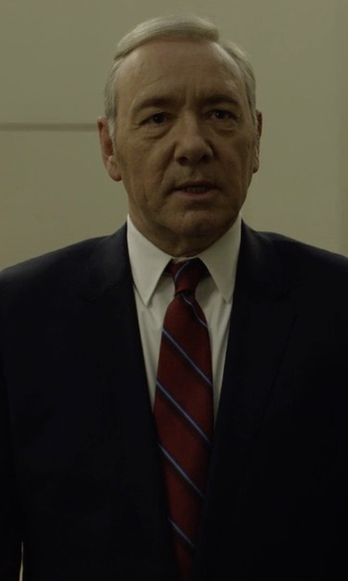 Kevin Spacey with Brioni Wool Two-Piece Suit in House of Cards
