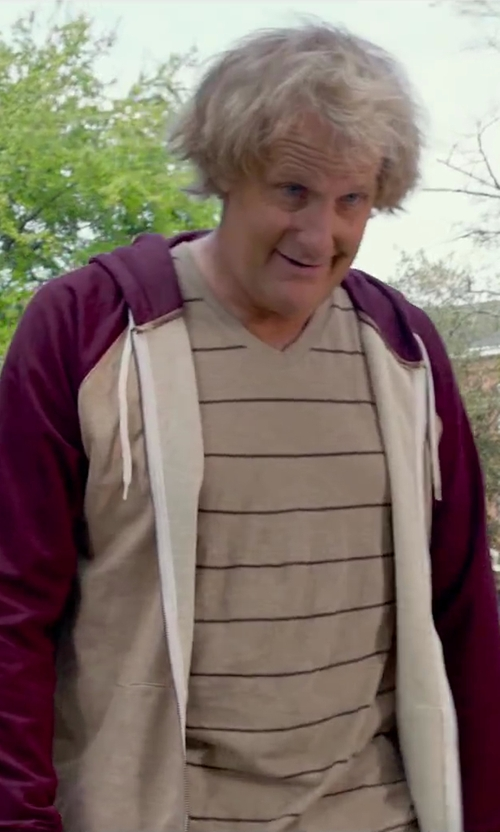 Jeff Daniels with Threads 4 Thought Men's The Malibu Hoodie in Dumb and Dumber To