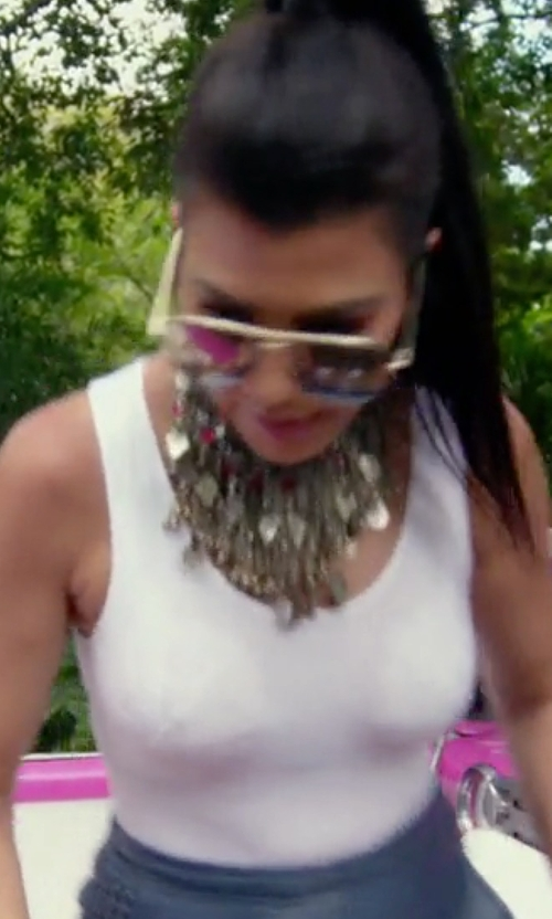 Kourtney Kardashian with Wolford Pure Tank Top in Keeping Up With The Kardashians