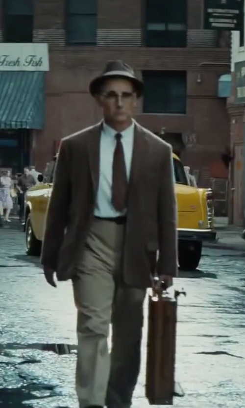Mark Rylance with Woolrich Water Repellent Wool Felt Fedora Hat in Bridge of Spies
