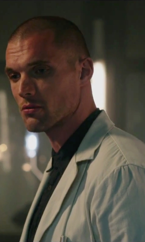 Ed Skrein with Landau Traditional Lab Coat in Deadpool