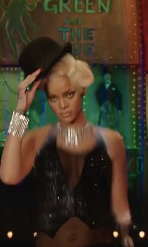 Rihanna with Overland Sheepskin Co Crushable Wool Derby Bowler Hat in Valerian and the City of a Thousand Planets