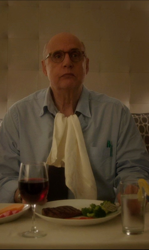 Jeffrey Tambor with Brooks Brothers Traditional Fit Button-Down Collar Dress Shirt in The D Train