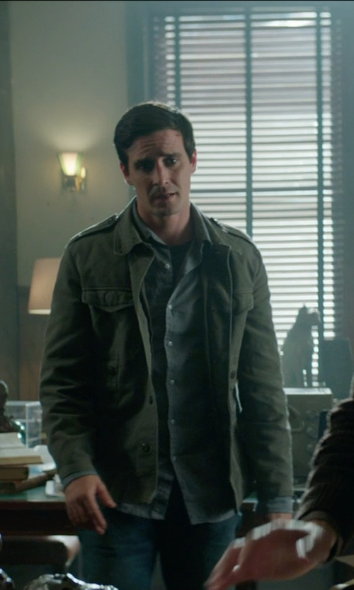 James Ransone with Denim & Supply Ralph Lauren Washed Cotton Field Jacket in Sinister 2