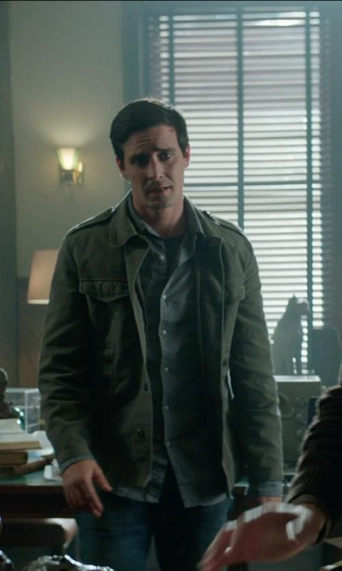 James Ransone with Denim & Supply Ralph Lauren Washed Cotton Field Jacket in Sinister 2