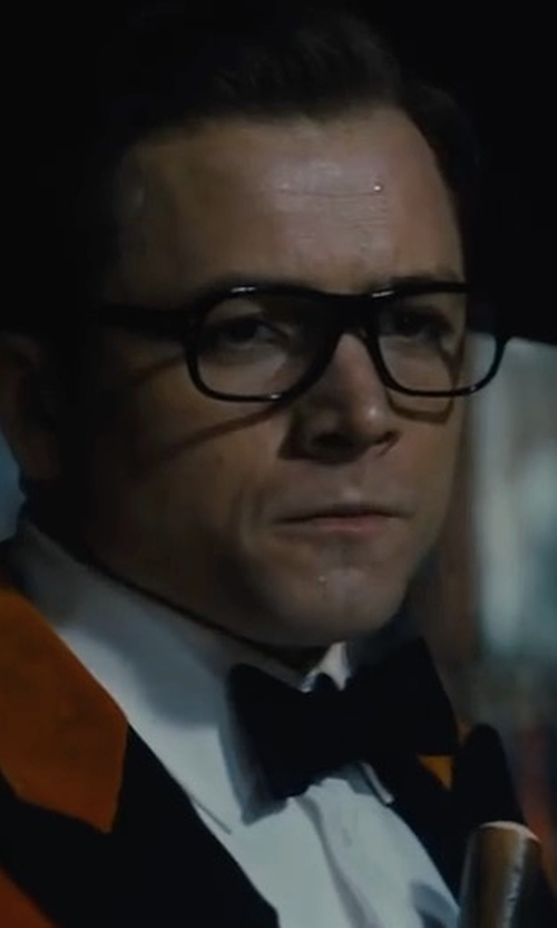 Taron Egerton with Cutler And Gross Tortoiseshell Acetate Square-Frame Optical Glasses in Kingsman: The Golden Circle