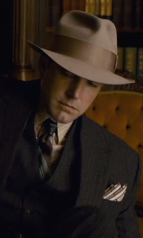 Ben Affleck with Eton Striped Silk Satin Tie in Live By Night