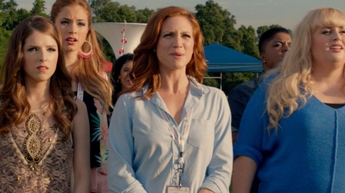 Brittany Snow with J.Crew Jeweled Peter Pan Oxford Boy Shirt in Pitch Perfect 2