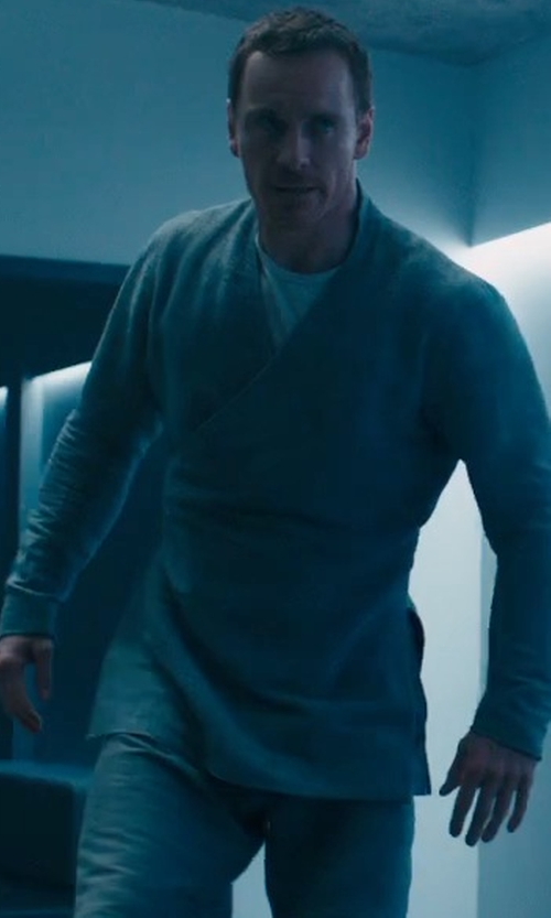 Michael Fassbender with Yoga Trendz Mandarin Collar Tunic in Assassin's Creed
