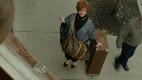 Melissa McCarthy with Louis Vuitton Pegase Legere 55 Suitcase in The Boss