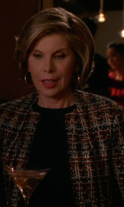 Christine Baranski with M Missoni Space-Dye Two-Button Blazer in The Good Wife