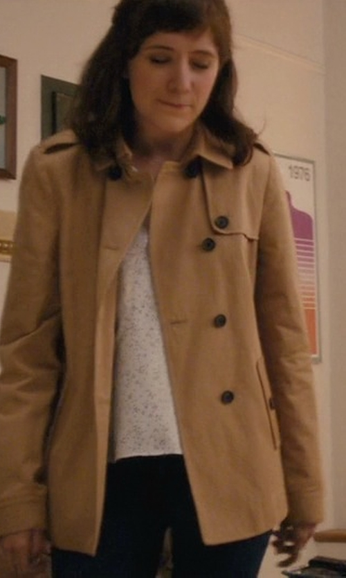 Noël Wells with Anne Klein Single-Breasted Trench Coat in Master of None