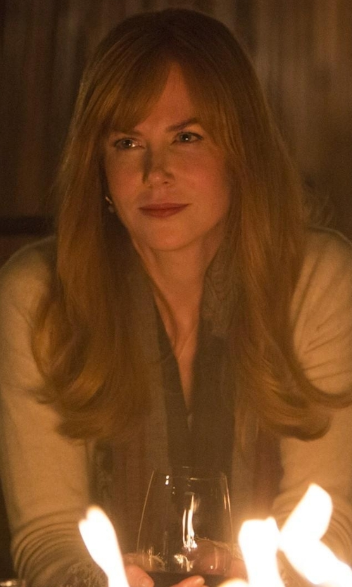 Nicole Kidman with Eileen Fisher Cozy Maltinto Textured Scarf in Big Little Lies
