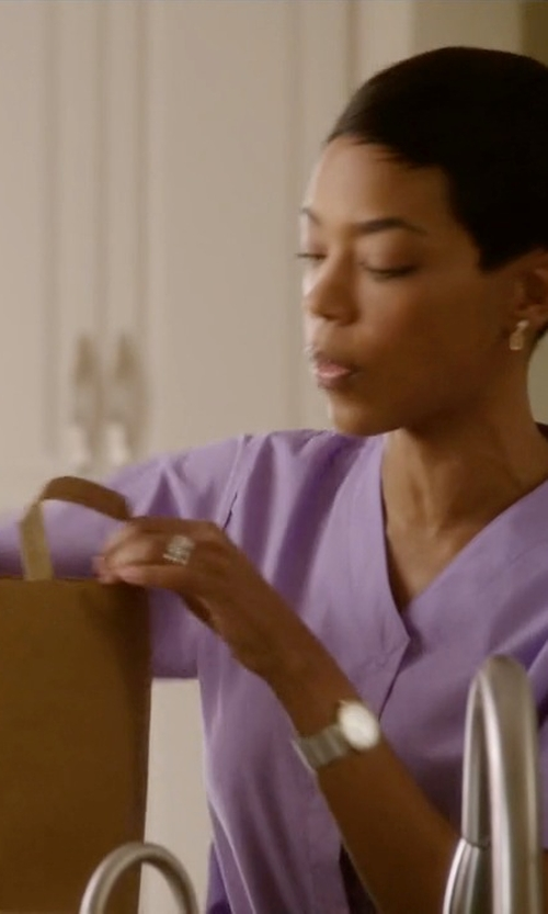 Jazmyn Simon with Juicy Couture Pedigree White Jelly Strap Watch in Ballers