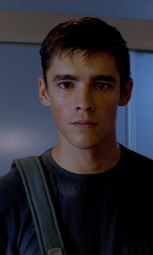 Brenton Thwaites with Pacsafe SlingSafe 250 GII Anti-Theft Handbag in The Giver