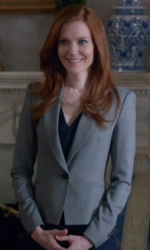 Darby Stanchfield with Stella McCartney   Blazer-Style Wool Jacket in Scandal