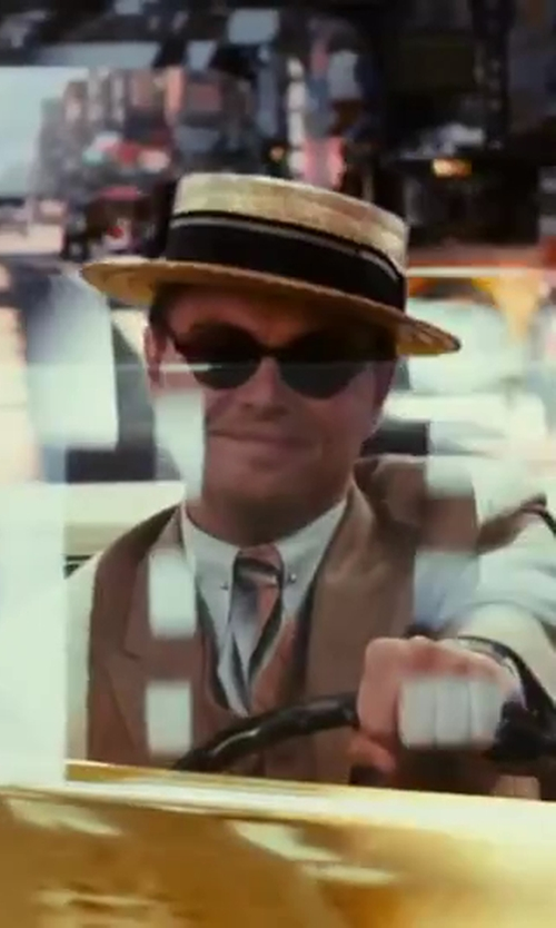 Leonardo DiCaprio with Bottega Veneta Round-Frame Sunglasses in The Great Gatsby