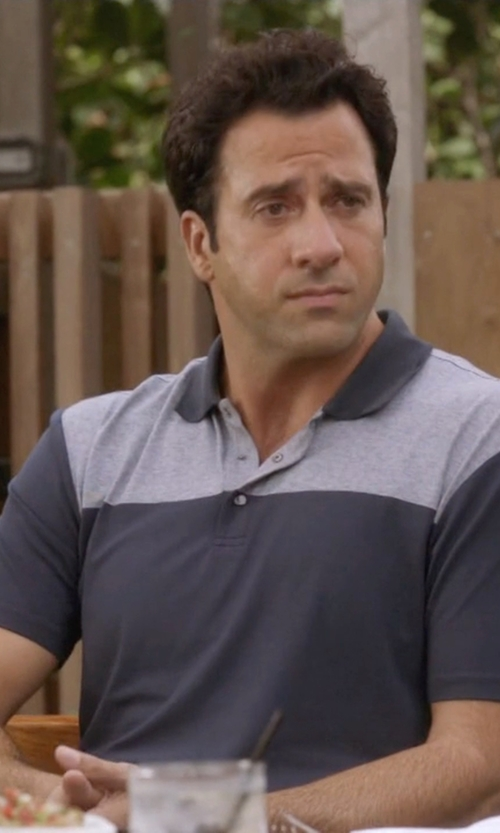 Troy Garity with Travis Mathew 'Bueller' Trim Fit Polo Shirt in Ballers
