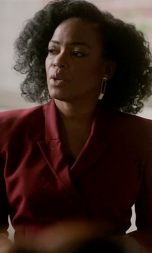 Aunjanue Ellis with Chlotilde Double Breasted Blazer in Quantico
