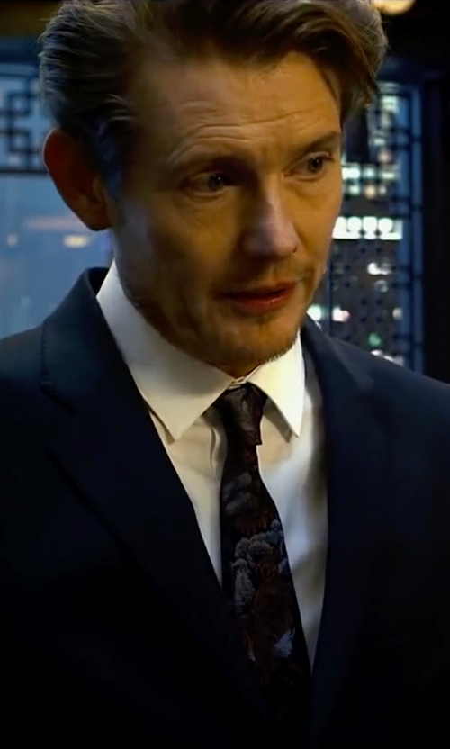 Unknown Actor with Lanvin Multi Camo Skinny Tie in Lucy